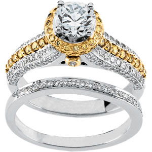 gold vintage engagement ring