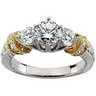 14KTT Bridal Semi Set Engagement Ring .88 CTW Ref 463279