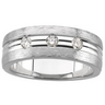 Mens .33 CTW Diamond Tapered Band 8mm Width Ref 242785