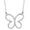 .33 CTW Diamond Butterfly Necklace Ref 902686
