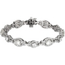 Created Moissanite and Diamond Bracelet 3.33 CTW 7 x 5mm Ref 759817