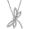 .33 CTW Diamond Dragonfly Necklace Ref 288194