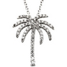 .33 CTW Diamond Palm Tree Necklace Ref 742745