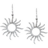 .75 CTW Diamond Sun Earrings Ref 202320
