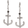 .2 CTW Diamond Anchor Earrings Ref 680352