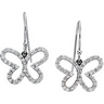 .38 CTW Diamond Butterfly Earrings Ref 270539