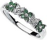 Genuine Emerald and Diamond Ring Ref 463322