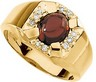 Genuine Mozambique Garnet and Diamond Ring 9 x 7mm Ref 141447
