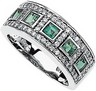 Genuine Emerald and Diamond Ring 3mm Ref 482543
