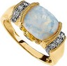 Genuine Opal Cabochon, Pink Tourmaline and Diamond Ring .17 CTW Ref 716888