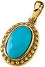 Genuine Turquoise Cabochon Pendant 11 x 7mm Ref 618843