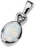 Genuine Opal Cabochon and Diamond Pendant 7 x 5mm .02 CTW Ref 911463