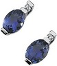 Genuine Iolite And Diamond Earrings 7 x 5mm .04 CTW Ref 113518