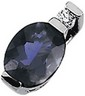 Genuine Iolite And Diamond Pendant 8 x 6mm .03 CTW Ref 715062