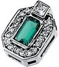 Chatham Created Emerald and Diamond Pendant 5 x 3mm .13 CTW Ref 397655