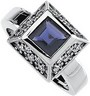 Genuine Iolite And Diamond Ring 6mm .33 CTW Ref 354697