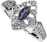 Genuine Iolite And Diamond Ring 7 x 3.5mm .25 CTW Ref 932211