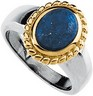 Genuine Lapis Cabochon Ring 10 x 8mm Ref 269436