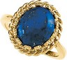 Genuine Lapis Cabochon Ring 12 x 10mm Ref 632132