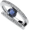 Genuine Iolite And Diamond Ring 6mm .17 CTW Ref 571625