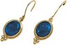 Genuine Lapis Cabochon Earrings 10 x 8mm Ref 638212