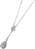 Moissanite and Diamond Drop Necklace 6 x 4mm .17 CTW Ref 517949
