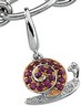 Genuine Pink Sapphire and Diamond Snail Charm .015 CTW Ref 264839