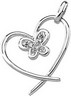 Diamond Heart and Butterfly Pendant .05 CTW Ref 807661