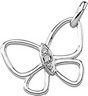 Diamond Butterfly Pendant .025 CTW Ref 719572