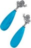 Turquoise Briolette and Diamond Butterfly Earrings .17 CTW Ref 115352