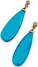 Genuine Turquoise Briolette and Diamond Earrings .05 CTW Ref 862457