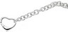 Sterling Silver Bracelet with Heart Shaped Clasp 7.5 inch Ref 455621