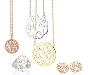 Monogram Necklaces, Bracelets and Cuff Links