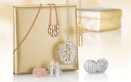 Personalized Gold Monogram Jewelry