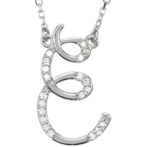 Gold Diamond Initial Necklace