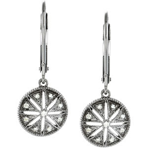 .1 CTW Diamond Leverback Earrings Ref 254123