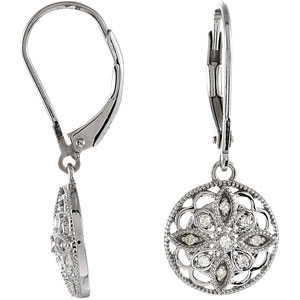 1 Ctw Diamond Leverback Earrings Ref 224202 S Ly