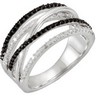 Genuine Black Spinel and Diamond Ring Ref 642857
