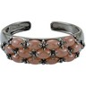 Genuine Chocolate Chalcedony Hinged Cuff Bracelet Ref 697123