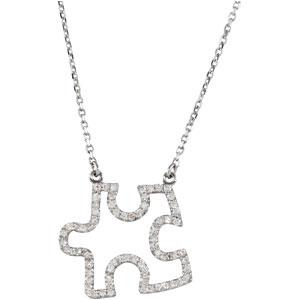 33 ctw diamond puzzle piece 165 inch necklace ref 923198 stuller 33 ctw diamond puzzle piece 165 inch necklace ref 923198 aloadofball Gallery