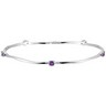 Genuine Amethyst Stackable Bangle Bracelet Ref 678824
