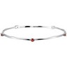 Genuine Mozambique Garnet Stackable Bangle Bracelet Ref 822000