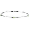 Genuine Peridot Stackable Bangle Bracelet Ref 427082