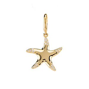 .1 CTW Diamond Starfish Charm Ref 350134