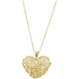 Wire Heart Necklace Ref 879640 :: Stuller 84893