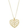 Heart Necklace with 18 inch Cable Chain Ref 538254