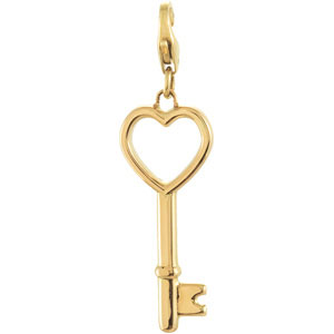 Key and Heart Design Charm Ref 378462