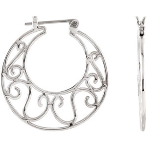 Sterling Silver Hoop Earrings Ref 387160