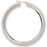 Amalfi Stainless Steel Knife Edge Hoop Earrings Ref 733273