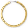 Amalfi Stainless Steel Half Round Hoop Earrings Ref 310229